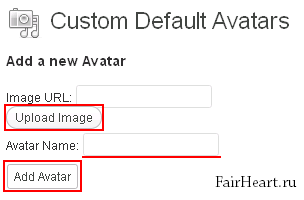 Default Avatars