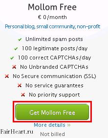 mollom free