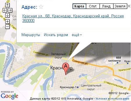 Модуль Карта Google Joomla