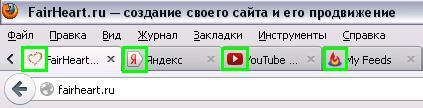faviсon в браузере
