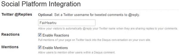 Social Platform Integration