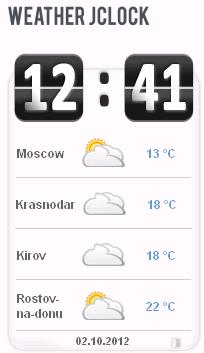 Модуль Weather JClock